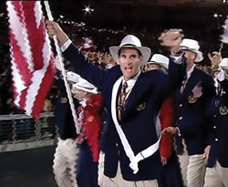 Cliff Meidl, USA Flag Bearer